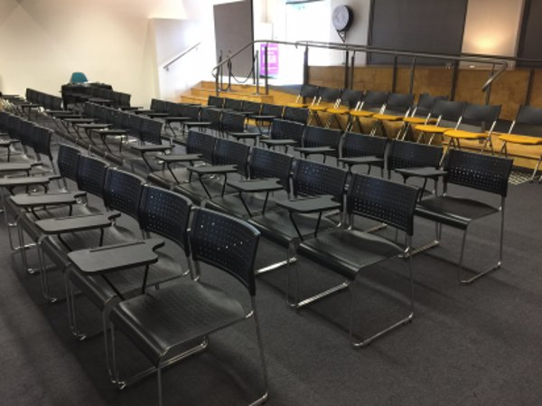 Computershare Conference Hire / Event Rent - 160 of tablet arm lecture theatre chairs