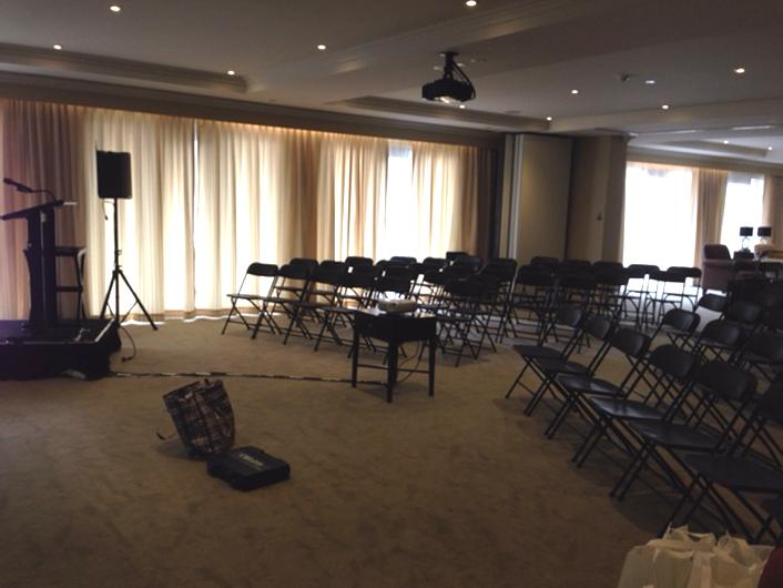 Set up of Meeting Chair & PA Equipment Rental Project
