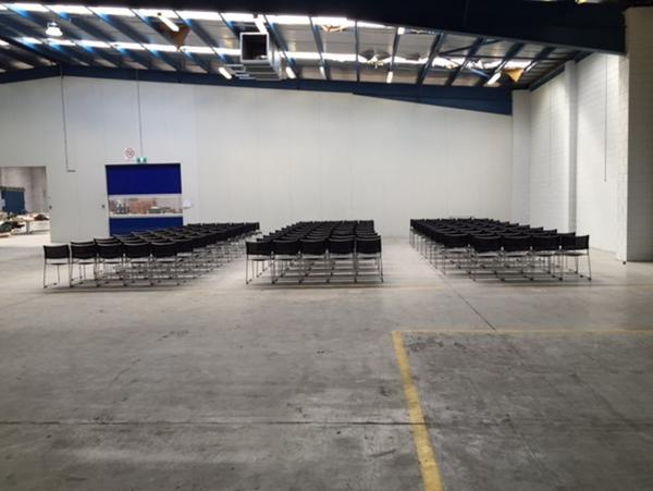 Set up 170 chairs for AGM