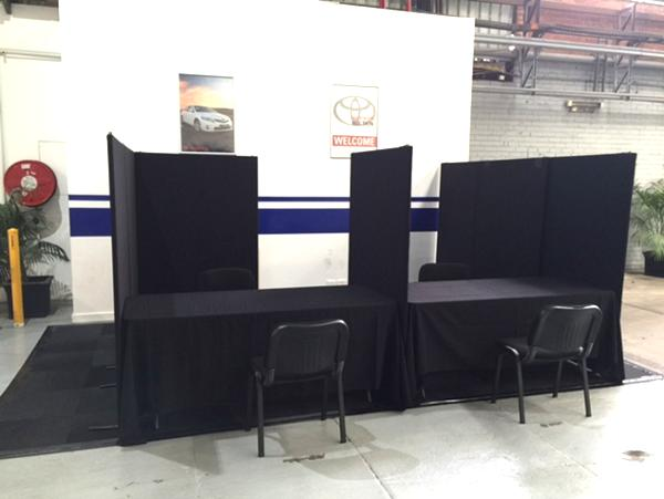 Pickles Auctions temporary office booths set up for hire