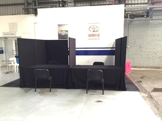 Pickles Auctions temporary office booths rental project
