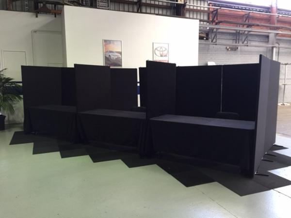 Pickles Auctions temporary office booths rent