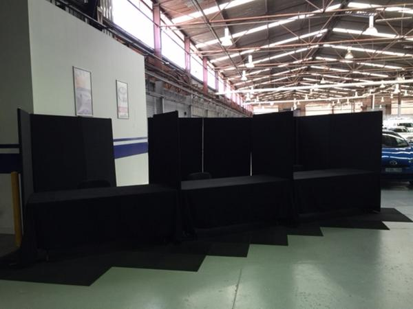 Pickles Auctions temporary office booths set up hire project