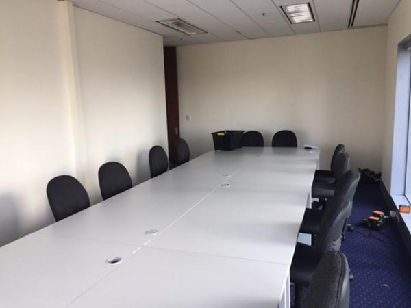 Meeting room chairs and tables