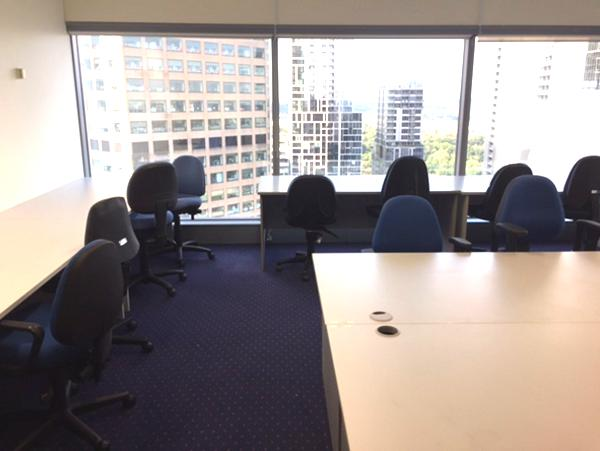 Gas lift chairs and tables for temporary office