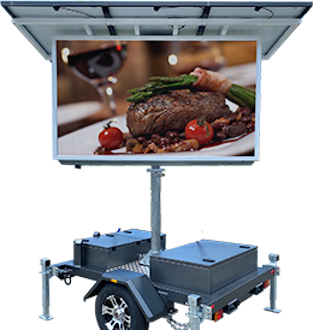 Mobile LED advertising sign for hire - Steak dinner