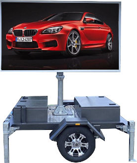 Mobile LED billboard sign for hire - BMW